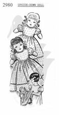 Reproduction Vintage Topsy Turvy Upside Down Doll Sewing Pattern 2980 16""