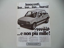 advertising Pubblicità 1980 INNOCENTI MINI MILLE 1000