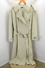 GIORGIO ARMANI BLACK LABEL FULL LENGTH DUSTER TRENCH COAT MADE IN ITALY 8