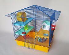 Jaula hamster roedores con plataforma de rueda de tubo de casa de Botella de Agua Animales Pet