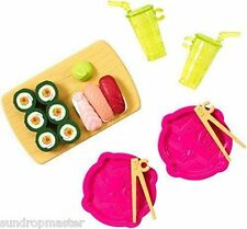 NEW! BARBIE MINI DOLL HOUSE ACCESSORY PACK ~ SUSHI SET ~ BNIP ~ 2015