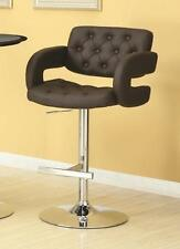 Brown and Chrome Adjustable Height Swivel Bar Stool Chair by Coaster 102556