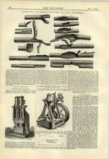 1884 Harrison Abergavenny Oscillating Engine Massey Steam Hammer Gunbarrel Obstr