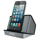 iHome IHM27BC Silver Portable Rechargeable Speaker for iPhone 3Gs 4 4s 5 5C 5s 6