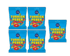 TYRKISK PEBER HOT & SOUR (Turkish Pepper) candy x 5 bags 150g FAZER Finland
