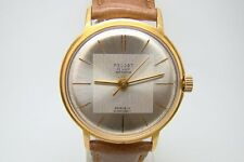 POLJOT DE LUXE RUSSIAN SOVIET USSR AUTOMATIC SELF WINDING WATCH VTG GOLD PLATED