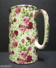 Heron Cross Pottery SUMMERTIME Chintz English 1 Pint Milk Jug
