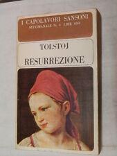 RESURREZIONE Lev Tolstoj I Capolavori Sansoni 4 1965 libro romanzo narrativa di