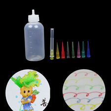 1Set Jam Cake Decorating Plastic Squeeze Bottle + 8 Nozzles Painting craft LD311