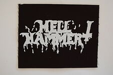 "Hell Hammer Cloth Patch Sew On Badge Black Metal Triptykon Approx 5""X4"" (CP236)"