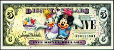"2009  Disney Dollar  $5   ""D""  Walt Disney World  crisp MINT"