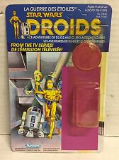 STAR WARS R2 D2 DROIDS CANADIAN  CARDBACK W ATTCH BUBBLE RARE KENNER VINTAGE C9+