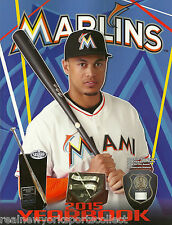 2015 MIAMI MARLINS OFFICIAL YEARBOOK JOSE FERNANDEZ GIANCARLO STANTON NEW