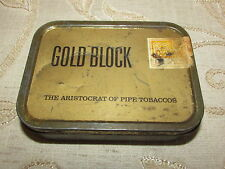 Vintage Collectable Gold Block The Aristocrat Of Pipe Tobacco Tin