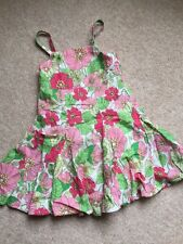 Girls Dress Age 2 Years Pink And Green Floral Print GAP Sisters