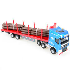 1:50 Scale Diecast Log Transporter Trucks Construction Cars Model Toys