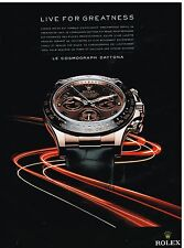 Publicité Advertising 2011 La Montre Rolex Cosmograph Daytona