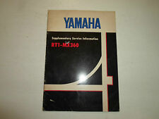 1971 Yamaha RT1 MX360 Supplementary Service Information Manual FACTORY OEM x