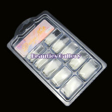 100Pcs Natural white French Acrylic False Fake Nail Art Fingernail Full Tips Box