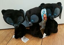 Disney brave bear cubs soft plush toys with tags Harris Hubert Hamish triplets