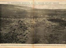 Offensive Bataille de Verdun Fort de Douaumont Bois de la Caillette War 1917 WWI