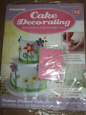 Deagostini Cake Decorating Magazine ISSUE 15 WITH SILICONE BUTTON MOULD