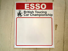 Esso RAC British Touring Car Championship DOOR PANEL STICKERS Race Car Racing