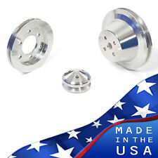 Ford FE Engine V-Belt Pulley Kit 352 390 427 428 Billet Aluminum Set Sheave