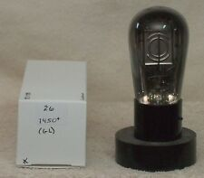 Type 26, 26, globe vacuum tube, no identification markings