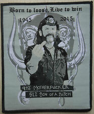 motorhead lemmy tribute missprinted patch / aufnaher limited edition!