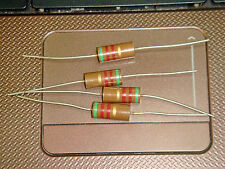 4 X MADE IN JAPAN RIKEN OHM RM2 510 OHM +/-5% 2W AUDIO GRADE CARBON RESISTOR