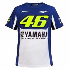 Valentino Rossi VR46 M1 Yamaha Factory Racing Royal Blue MotoGP T-Shirt Cotton