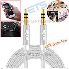 ®ETS 1.5M 3.5mm Jack Male Plug To Plug Audio AUX Cable Headphone Speakers Lead