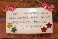 Handcrafted Personalised Plaque Sign Best Friend Mum Nan Gift Present.