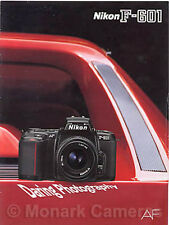 Nikon F-601 Camera Dealer Sales Brochure from 1991, Other Catalogues Listed