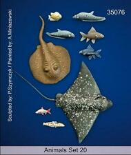 Mantis Miniatures 1:35 Animal Set 20 Sea Life Sting Ray Resin Figure Kit #35076