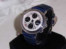"HAGAL SOLID 18K. WHITE GOLD W/SWISS VALJOUX 7751 MOVEMENT""VERY HARD TO FIND NICE"