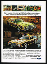 1972 Ford LTD Country Gran Torino Squire Wagon Car Print  Ad