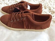 Zara Women fringed Leather Plimsole Shoes Size Uk 3 EUR 36 BNWT!