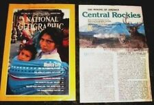 NATIONAL GEOGRAPHIC MAGAZINE AUGUST 1984 MEXICO CITY / CENTRAL ROCKIES w/ MAP!