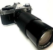 Canon AE-1 Program Camera with 70-210 mm f1.4 Lens  Great Condition !