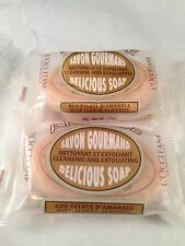 L'occitane Almond Delicious Soap Set Of 2 X  1.7oz Cleansing And Exfoliating