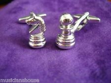 Chess Players Pieces Board Game CUFFLINKS Gift BOXED