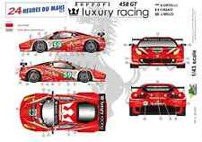 "[FFSMC Productions] Decals 1/43 Ferrari F-458 GT ""Luxury Racing"" (LM 2011)"