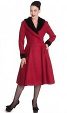 Red with Black Trim Vintage style 1940s 50s  Coat Size 14  12