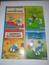 Lotto 4 albi cartonati SCHTROUMPF - PUFFI 1976 1978 Dupuis in tedesco