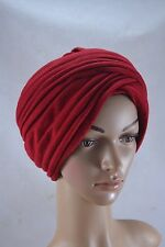 VINTAGE KANGOL red jersey turban hat 1970s