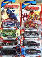 Hot Wheels Avengers Age of Ultron (Sealed / New) (Hard To Find) 8 in the SET