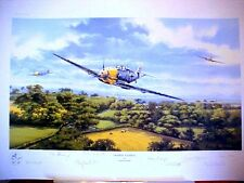 Fighter General Me109 Adolf Galland Graeme Lothian 8 Ace Signed Aviation Art