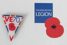 Official Royal British Legion VE day 70th anniversary pin badge for Poppy Appeal